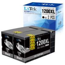 LxTek Compatible Ink Cartridge Replacement for Canon 1200XL PGI-1200 PGI1200XL to use with MAXIFY MB2720 MB2120 MB2320 MB2020 Printer (Black, 2 Pack-High Yield)