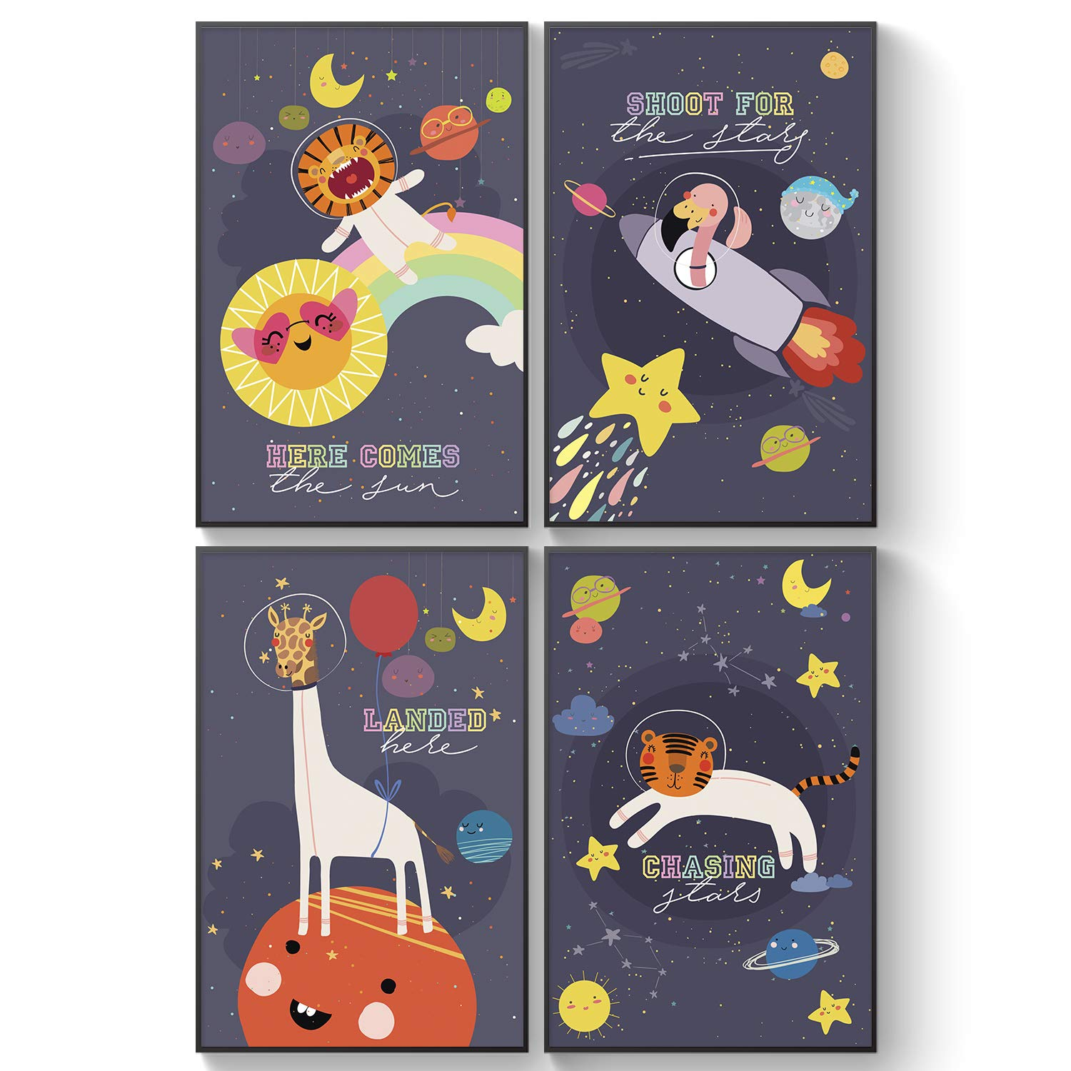 Pillow Toast Baby Wall Art Nursery Decor 11by 17inches Space Posters For Boys Room Little Astronaut Children Wall Art Kids Room Decor Moon Stars Baby Room Decor