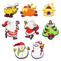 Santa Magnets Automobile Fridge Magnet Classical 8 Pcs Christmas Refrigerator Magnets Home Decoration Children Gift