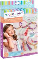 Make It Real - Gold Link Suede Bracelets. DIY Suede Bracelet and Choker Making Kit for Girls. Arts and Crafts Kit to Design and Create Tween Jewelry with Faux Suede, Beads, Gold Pieces and Charms