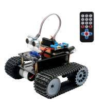 Smart Robot Car Kit, Keywish Panther-Tank Robot for Arduino Project,with BLE UNO Board,Ultrasonic Sensor,Great Educational STEM Toys, Support Scratch Library