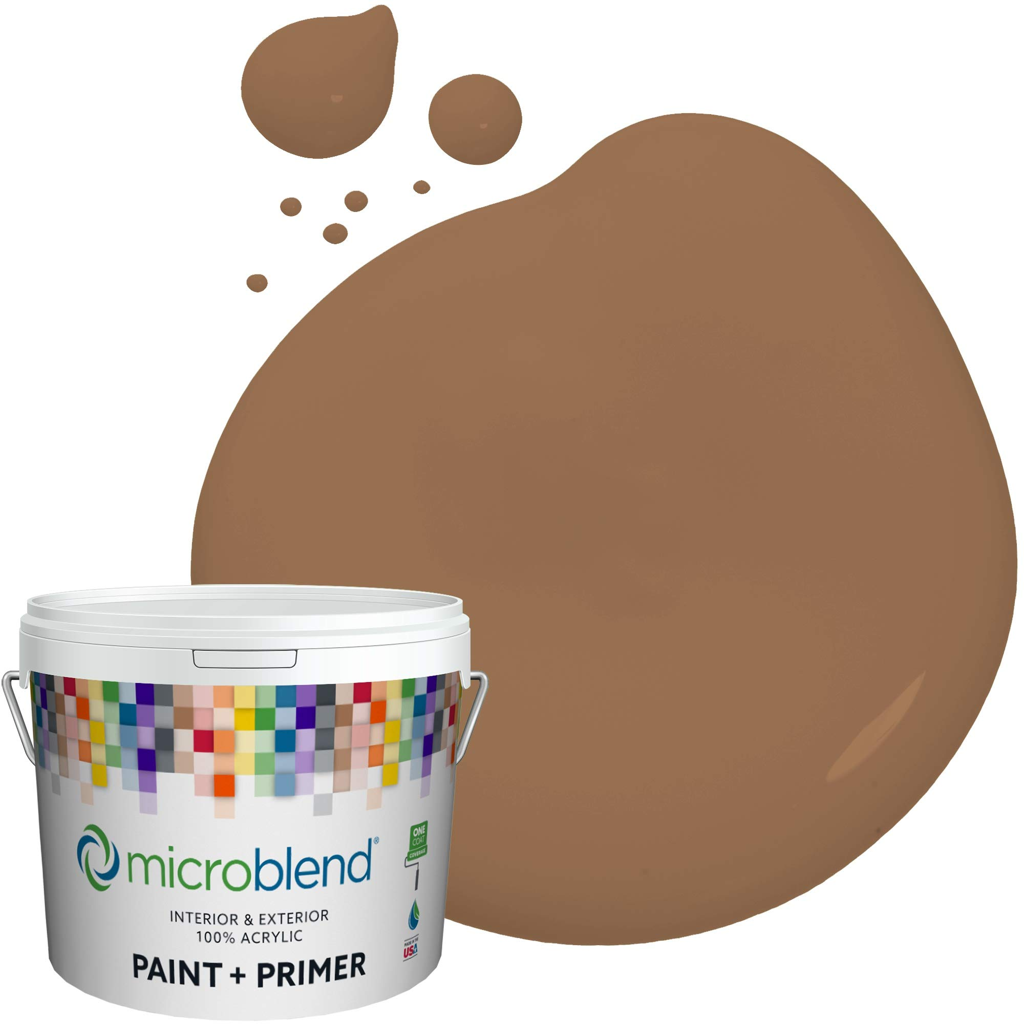 MicroBlend Interior Paint + Primer, Galleon Gold, Flat Sheen, 1 Gallon, Custom Made, Premium Quality One Coat Hide & Washable Paint