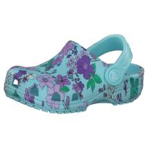Crocs Kid's Classic Floral Clog|Water Shoe for Toddlers|Slip on Girls' Sandal