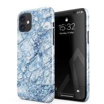 BURGA Phone Case Compatible with iPhone 11 - Arctic Winter Blue Topaz Snow Frost Ice Marble Cute Case for Girls Thin Design Durable Hard Shell Plastic Protective Case