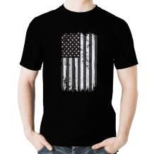 Vintage American Flag T Shirt - Distressed US Flag Tshirt Patriotic Shirts Graphic Tees for Men
