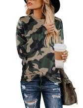 BMJL Women's Casual Leopard Print Tops Long Sleeve T Shirt Cute Blouse