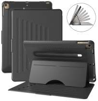 TIRIN Case for iPad 10.2 2019, iPad 7th Generation case, Shockproof Strong Magnetic Stand Case with Auto Wake/Sleep, Pencil Holder, Multiple Viewing Angle for New iPad 10.2 Inch Latest Model - Black