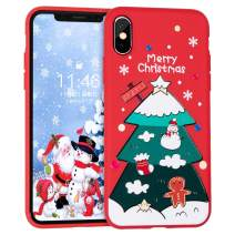 BIBERCAS iPhone 11 Case Christmas,Slim Soft TPU Case for iPhone 11,Silicone Protective Cartoon Christmas Cover Case for iPhone 11-6.1 inch