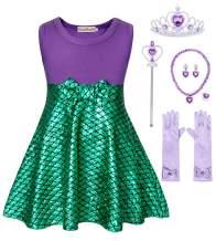 HenzWorld Little Girls Dresses Mermaid Costume Nightgowns Pajamas Birthday Party Cosplay Accessories 1-8 Years