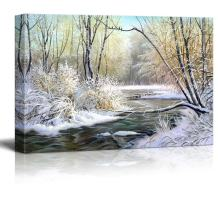 "Canvas Prints Wall Art - Winter Landscape with The Wood River - 16"" x 24"""