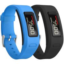 SKYLET Compatible with Garmin Vivofit Bands, Colorful Silicone Replacement Band Compatible with Garmin Vivofit 1 Wristband with Metal Buckle (No Tracker)