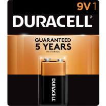 Duracell - CopperTop 9V Alkaline Batteries - long lasting, all-purpose 9 Volt battery for household and business - 1 count