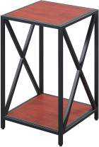 Convenience Concepts Tucson Metal Plant Stand, Cherry / Black