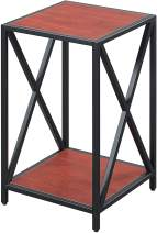 Convenience Concepts Tucson Metal Plant Stand, Cherry / Black