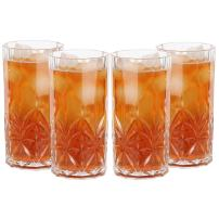 Lily's Home Unbreakable Acrylic Double Old Fashioned Hi-Ball Whiskey Tumblers, Premium Glasses are Shatterproof and Ideal for Indoor or Outdoor Use, Reusable, Crystal Clear (18 oz. Each, Set of 4)