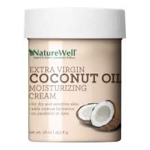 Naturewell Extra Virgin Coconut Oil Moisturizing Cream, 16oz (Pack of 2)