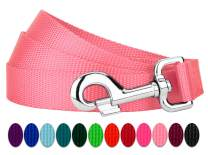 Country Brook Design - 4ft by 1 Inch Heavyduty Doublehandle Nylon Leash - Pink