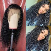 BINF Hair 12 Inch 100% Unprocessed Brazilian Virgin Human Hair Wigs for Black Women, 4x4 Lace Closure Human Hair Wigs with Baby Hair Pre Plucked, Water Wave Wigs Natural Hairline