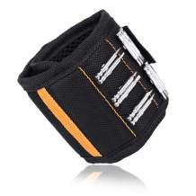 Arssilee Tools For Men Magnetic Wristband, Best Dad Gift, Unique Gifts For Men, Magnetic Gadget for Man Gifts, 15 Upgrade Super Strong Magnet, Wrist Tool Holder for Holding Screws, Nails, Drill Bits.