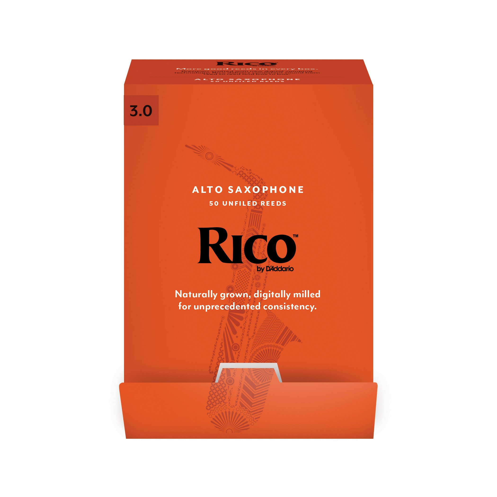 D'Addario Woodwinds Rico by D'Addario Alto Saxophone Reeds, Strength 3.0, 50-pack (RJA0130-B50)