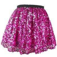 Flofallzique Gold Girls Sequins Skirts Sparkly Dance Kids Skirt Mini Toddler Skirt