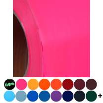 """Neon Pink Heat Transfer Vinyl Film HTV   Two (2) 15""""x 20"""" sheets  Solids, Neon, Glitter, Flock, Holographic, Metallic, Embossed   Over 130 Colors   For Silhouette, Cameo, etc.   Threadart"""