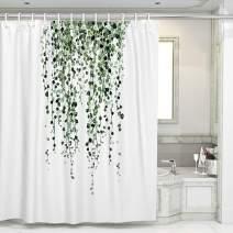 Otostar Shower Curtains with 12 Hooks Durable Polyester Green Eucalyptus Leaves Shower Curtain Bathroom Decor Bath Curtain Waterproof Bathroom Curtain 72 X 72 Inch (Green Eucalyptus Leaves)