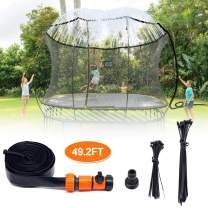 INMUA Trampoline Sprinkler, Outdoor Trampoline Water Play Kids Yard Water Fun Game Toys(49.2FT/15M)