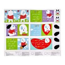StudioE Fabrics Huggable & Loveable I Ruff You Soft Book Panel Fabric, Multi
