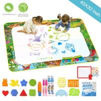 """EMISK Aqua Magic Mat, 40"""" x 32"""" Extra Large Doodle Drawing Mat, Mess Free Coloring Painting Educational Toddlers Toys, Water Drawing Mats for Boys Girls Age 2,3,4,5,6,7,8 Year Old"""