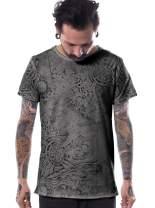 Men's Full Print T-Shirt Raw Cut Edges - in House Street Art Quality Cotton Top