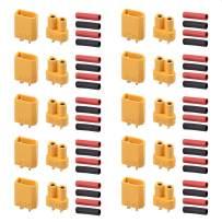 AUTOUTLET 20PCS 10Pairs XT30 Bullet Connectors Plugs Male & Female with Heat Shrink for RC Car/Boat/LiPo Battery