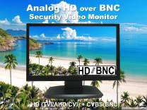 101AV 21.5 Inch HD-TVI,AHD,CVI/CVB Analog HD 16:9 LED Security Monitor 1x HDMI & 2X BNC Video Inputs CCTV DVR Home Office Surveillance System