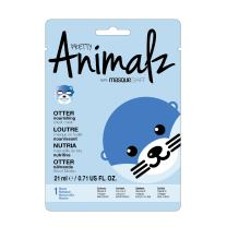 masque BAR Pretty Animalz Otter Sheet Mask, Nourishing Korean Skin Care Face Mask for Women, Fun Animal Facemask for Kids, Spa at Home Treatment (6 Pack)