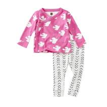 Tea Collection Wrap Top Baby Outfit, Love Doves Design