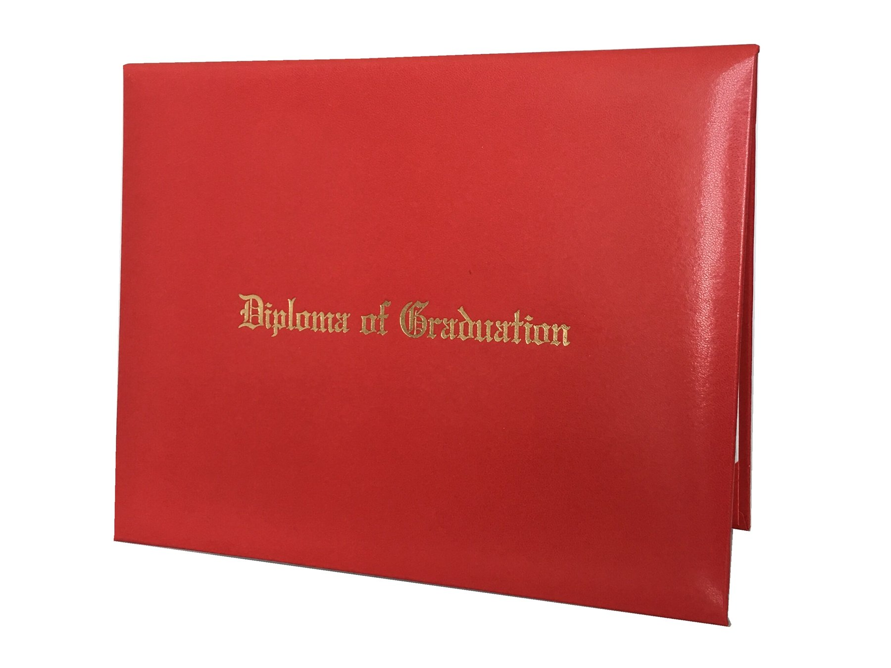 """Annhiengrad Graduation Certificate Cover 8.5"""" X 11"""" with Diploma of Graduation, Red"""