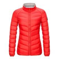 Obosoyo Women's Hooded Packable Ultra Light Weight Short Down Jacket Outwear Down Puffer Jacket