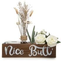 Lynicon Nice Butt Bathroom Decor Box Toilet Paper Storage Farmhouse Rustic Wood Crate Home Decor