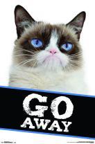 "Trends International Grumpy Cat - Go Away, 22.375"" x 34"", Premium Unframed"