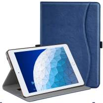 """Ztotop Case for iPad Air 10.5"""" (3rd Gen) 2019/iPad Pro 10.5"""" 2017, Premium Leather Business Slim Multi-Angle Viewing Stand Folio Cover with Auto Wake/Sleep Protective Smart Case, Navy Blue"""