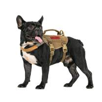 OneTigris Tactical Dog Harness,Puppy Harness with Handle, Military Vest for Small Dogs Outdoor Easy Control Training Walking