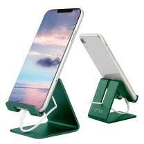 Desk Cell Phone Stand Holder Aluminum Phone Dock Cradle Compatible with Switch, All Android Smartphone, for iPhone 11 Pro Xs Xs Max Xr X 8 7 6 6s Plus 5 5s 5c, Accessories Desk (Green)