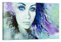 LightFairy Wall Art for Living Room - Limited Edition 100 PCS - Glow in The Dark Canvas Print - Original Painting by Artist Raul Neret - Dream Girl - 46 x 32 inch