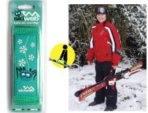Kids Hand Held Award Winning Ski Carrier Strap - Wraps Skis and Poles in to One Unit Making It Easy for Kids
