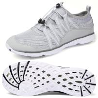Alibress Men's Aqua Shoes Quick Drying Barefoot Water Shoes for Men Grey Gray White 13 M US