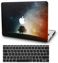 """KECC Laptop Case for MacBook Air 13"""" w/Keyboard Cover Plastic Hard Shell Case A1466/A1369 2 in 1 Bundle (Lonely Tree)"""