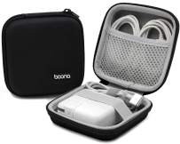 BOONA Apple Power Adapter Exclusive Bag, EVA Hard Shell Portable MacBook Air/Pro Charger Case for Laptop MacBook Accessories,Gadgets, Cables, Cords, USB Drives, Earphones - Small, Black