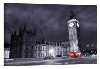 LightFairy Glow in The Dark Canvas Painting - Stretched and Framed Giclee Wall Art Print - Big Ben at Night - Master Bedroom Living Room Decor - 6 Hours Glow - 46 x 32 inch
