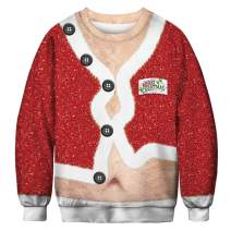 Ainuno Mens Womens Ugly Christmas Sweater Funny Sweatshirt Pullover for Xmas Party