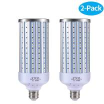 LED Garage Lights,LED Corn Light Bulb 60W,E27 Medium Base, for Factory Warehouse High Bay Barn Backyard, Super Bright - 2 Pack … …